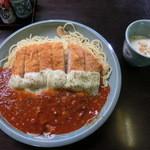 ぴくにっくらんち - チーズスパカツ(ミニスープ付1,180円)