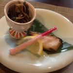 寿司・割烹 仙岳 - 鰆とワラビ