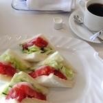 ルーブル - 野菜サンドとブレンドのランチセット
