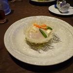 中国料理 燦宮 - 平木貝・ミル貝と季節野菜の薄塩炒め巣篭もり風