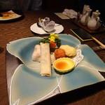 中国料理 燦宮 - 北京ダックと2種類の揚げ物添え