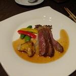 中国料理 燦宮 - 黒毛和牛のステーキ フォワグラのせ 秘伝XOソース