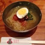 陽山道 - 冷麺ハーフサイズ。麺がツルシコ、スープも美味