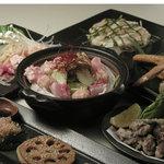 ざんぐり - コーチン鶏鍋のコース