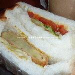 ドーナッツ・プラント - サンドイッチ(さつまいもコロッケサンドと野菜サンド)