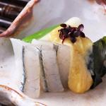 日本料理 日の出 - さより分葱ぬた