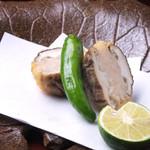 日本料理 日の出 - 海老真薯椎茸挟み揚げ
