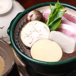 日本料理 日の出 - 豚肉野菜ちり蒸し