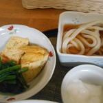 Kamuon - 小饂飩・卵焼き・ほうれん草のお浸し・ヨーグルト