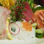 全席個室居酒屋 柚柚~yuyu~ - 刺身五種盛り合わせ