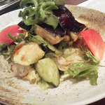 竹之内 - 水茄子のサラダ リッチに大きく裂いたかの如く大切り水茄子ですね