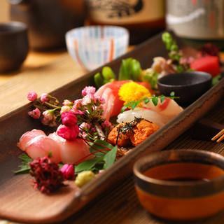 旬と産地にこだわった素材を最も美味しい食べ方でご提供します。