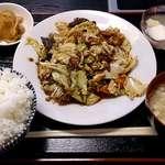 好味苑 - 好味苑 @本蓮沼 日替わりランチ ホイコーロー定食 500円(税込)