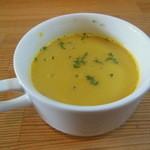 Outdoor Cafe 野菜香房 - サラサラのかぼちゃスープ