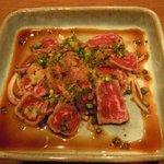 酒菜ゐとう - 牛のたたき (600円)