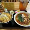 錦乃 - 料理写真:カツ丼半ラーメン 630円