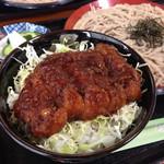 松月庵あだち店 三代目宗次郎 - 料理写真:ソースかつ丼+ざるそば 2014.05