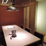 神楽坂 翔山亭 - 個室の雰囲気はこんな感じです