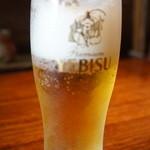 なごみ濱 - ドリンク写真:ビールをいただきました