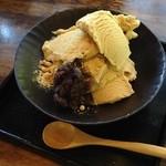 京都大原の味噌鍋専門店 雲井茶屋 - 白みそアイス 520円