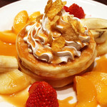 プラザカフェ - 新メニューのフルーツパンケーキ 単品610円 ドリンクセット860円