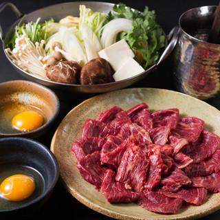 多彩な馬肉料理をご用意!写真は【こだわりの桜鍋】