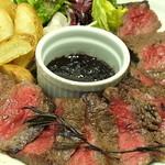マカロニ市場 - 料理写真:和牛ランプステーキ