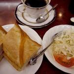 マスサンコーヒーショップ - カスクートサンドセット