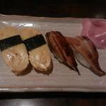 錦寿司 - 料理写真:握り(玉子・穴子)