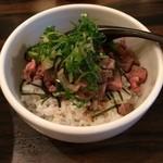 麺処hachi - 和牛モモ肉の山葵醤油ご飯(400円)