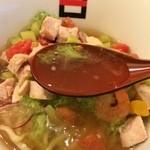 麺処hachi - このジュレ状のスープは…