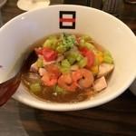 麺処hachi - 初夏の彩り野菜の冷たいラーメン'14(1000円)