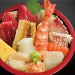 野口鮮魚店 - 海鮮ちらし(並) 950円    (税込1,045円)