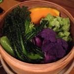 もしも屋 - 季節のお野菜蒸篭蒸し