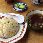 27915026 - 炒飯とカツ丼