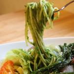 有機菜園ダイニング・タベルナ - 小松菜のグリーンパスタ