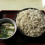 直利庵 三浦屋 - 鴨ざる蕎麦
