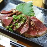 居酒屋 明香苑 - 炙りハツ刺し 380円