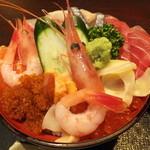 27921811 - ランチ 丼ガバチョ 1050円 海鮮丼 【 2014年 6月 】