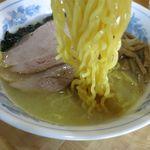 麺龍 - 塩ラーメンの麺