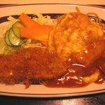 キッチンすもり - チキンピカタと魚フライ