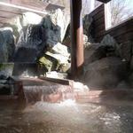 27933321 - 露天風呂(女性)滝のように流れる湯口