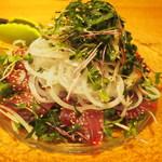 noka table - 初鰹の新玉サラダ仕立て
