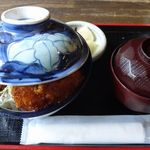やません - ソースかつ丼(味噌汁・お新香付) ¥1100