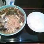 海華 - 味噌ラーメン「580円」+半ライス「100円」