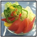 正和食堂 - 料理写真:皆様こんにちは。雨大丈夫ですか?写真は野菜サラダです。自然の恵みを受け取るには何らかの行動しないとですね。