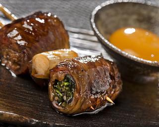 焼とりの八兵衛 ソラリアプラザ店 - 和牛すき焼き串