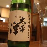 ワタリガラス - サービスの日本酒 美波太平洋