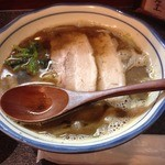 烈志笑魚油 麺香房 三く - かけラーメン(800円)