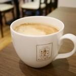 角パン専門店Cafe&マルシエルブ - セットのドリンクはカフェオレ